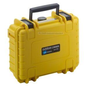 B&W Outdoor Case 500 - mit Würfelschaum oder leer - Schutzkoffer - gelb