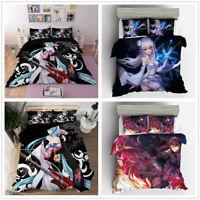3D Hatsune Miku Anime Bedding Set Duvet Cover Quilt/Doona Cover Pillowcases Set