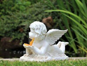 Garden Ornament  Fairy Angel Cherub Butterfly Solar powered LED Figurine Statue