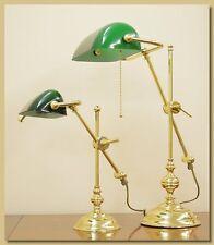 Lampada da Tavolo, Ottone, Mod. Ministeriale Bilancino Grande art. LT/104G verde