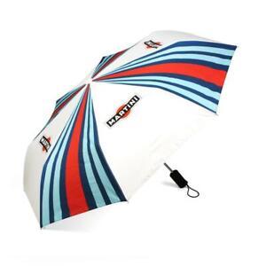 "Genuine Martini Racing Stripe & Logo Umbrella, White, 36"", NEW"
