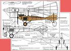 """Model Airplane Plans (FF): 1913 Rumpler 'Taube' 22-3/4"""" 1/16 Scale  (R/N Models)"""