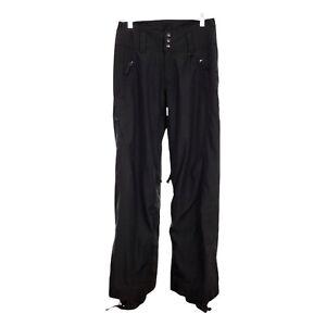 Patagonia Women's Sidewall Ski Snowboard Pants S Black Zip Vents H2no Waterproof