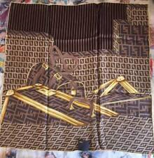 Foulard sciarpa di seta FENDI ORIGINALE con LOGO silk new bag