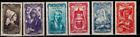 France Série des timbres N° 593 à 598 Neuf **