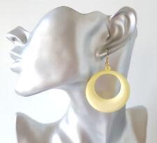 Pretty Lemon lightweight acrylic -plastic simple hoop drop earrings