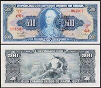 50 CENTAVOS / 500 CRUZEIROS 1967 BRESIL / BRAZIL / BRASIL [SUP / XF] P186