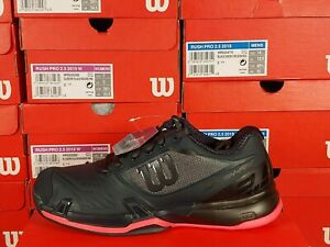 Wilson Rush Pro 2.5 Women's Tennis Shoes Athletic Black and Pink Multiple Sizes