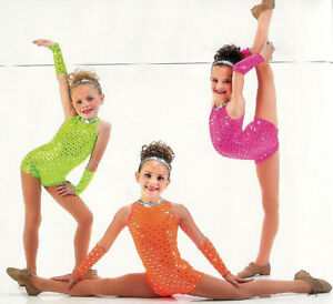 DAZZLE Biketard Jazz Tap Acro Dance Costume Child XS,Adult S, AM, AL