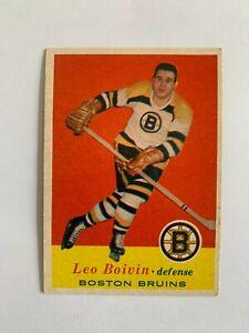 1957-58 Topps #18 Leo Boivin - Boston Bruins / SET BREAK