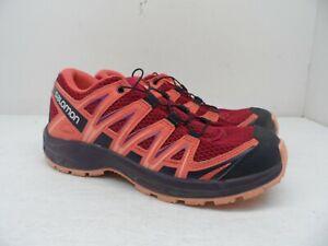 Salomon Kids XA PRO 3D Junior Trail Running Shoes Cerise/Dubarry/Peach Amber 4M