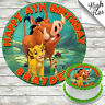 LION KING EDIBLE ROUND BIRTHDAY CAKE TOPPER DECORATION PERSONALISED