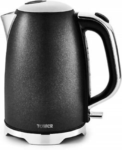 Tower T10039 Fast Boil Kettle with Automatic Shut-Off, Black Glitz Sparkle