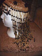 Egyptian Greek Cleopatra Halloween Costume Roman Headdress Hat Beaded Party
