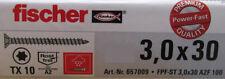 Fischer Power-Fast Edelstahl A2 Holz Schrauben Spanplattenschrauben Torx Antrieb