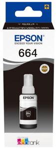 Epson Tintenbehälter Tinte 664 T6641 BK black, schwarz