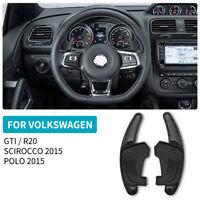 2x Carbon Fiber Steering Wheel Paddle Shifter Trim For VW Golf MK7 GTI  R20 2015