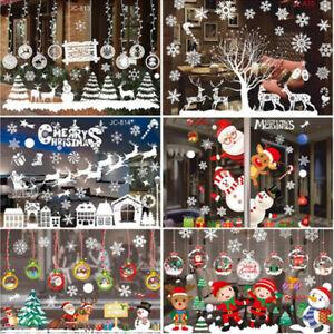 Merry Christmas Wall Stickers Fashion Santa Claus Window Room Xmas Decor Decals