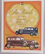 REO Royale Eight Automobile PRINT AD - 1931 ~~ motor car, auto