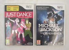 Just Dance 1 Wii und Michael Jackson The Experience Wii