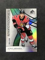 2019-20 SP GAME USED VITALY ABRAMOV AUTHENTIC ROOKIE #ed 91/298