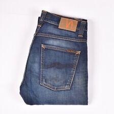 29376 Nudie Jeans Slacker Jack Dunkel Organisch Gebraucht Blau Men Größen 31/32