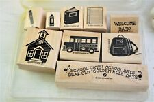 Stampin Up Golden Rule Days Rubber Stamps Wooden Mounted