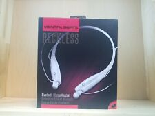 Mental Beats Reckless Bluetooth Wireless Stereo Headset New Open Box White