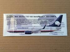 Draw Decal, Boeing 737-400, Aeromexico, 1/144