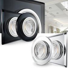 LED Einbaustrahler Glas Klar / Schwarz Flach geringe Tiefe 24mm Set dimmbar 230V