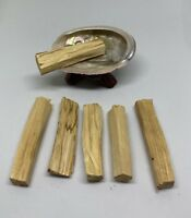 "Palo Santo Holy Wood Pack of 6,Red Abalone Shell 2-3"",Wooden Tripod Stand 2"""