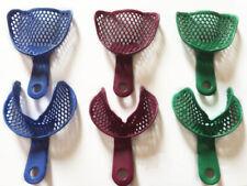 6pcsset Dental Impression Trays Edentulous Jaw Tray Denture Model Materials