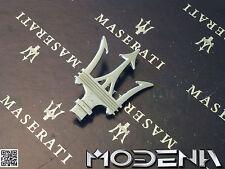 Maserati Emblem Dreizack Tridente Badge Mark Metall Chrom QP Evoluzione Evo
