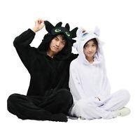 How to train your dragon 3 Soft Couple Pajamas Toothless Light Fury Sleepwear