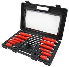 12 Piece Mechanics Screwdriver Box Set Heavy Duty Engineers Hex Bolsters + Case