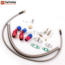 Turbo Oil Line Kit Feed Line + Return Drain For 4AN 10AN T04E Oil Pan Plug