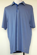 Greg Norman PlayDry Polyester Blue & Gray Striped S/S Golf Polo Shirt XL