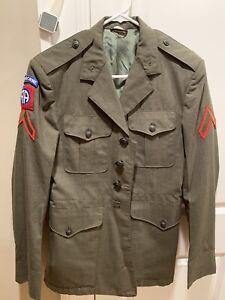 Vintage Vietnam War Era U.S. Army Airborne Unit Dress Uniform Jacket W/ Patches