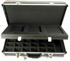 Silver Aluminum Briefcase Hard Tool Holder Home Box Case Storage With Foam