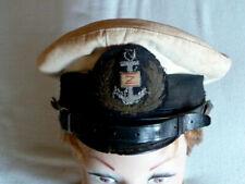 Marine Schirmmütze weiss Kokarde Gr ca 56 Fluss- oder Kriegsmarine keine Ahnung