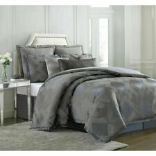 Nwt Charisma Emporio Grey 4-Pc King Duvet Cover Shams Bedskirt Set - Gorgeous!