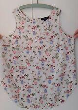 Primark Atmosphere Floral Bird Print Women's Sleeveless Blouse Tunic Top UK 16