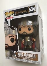 LORD OF THE RINGS POP Vinyl KING ARAGORN #534 New in box FUNKO