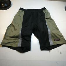 Titec Bicycle Cycling Lined Padded Bike Shorts Sz Mens M Black & Green