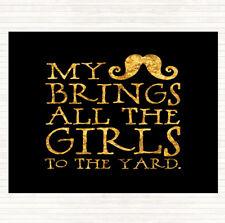 BLACK GOLD BAFFI porta le ragazze in giardino preventivo Tavola Tovaglietta Americana