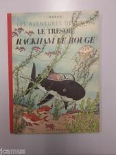 Tintin -  Le trésor de Rackham le  rouge 4è plat B3 -1949-RARE  imp. SAPHO TTBE!