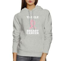 Tackle Breast Cancer Football Grey Hoodie