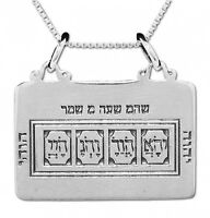 Pendant The Code of Moses Amulet Kabbalah Sterling Silver Pentacle King Solomon
