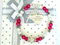 Girls Engraved Bracelet Christening/First Holy Communion Personalised Gift