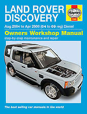 LAND ROVER Discovery Diesel 2.7 V6 Turbo 04 - 09 2009 2004 manuale HAYNES 5562c